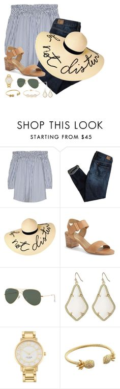 Do not disturb by classycathleen on Polyvore featuring American Eagle Outfitters, Stuart Weitzman, Kate Spade, Kendra Scott, Jules Smith, Lilly Pulitzer, Eugenia Kim and Ray-Ban