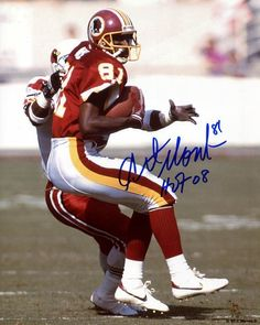 ART MONK REDSKINS SIGNED AUTO 8X10 PHOTO