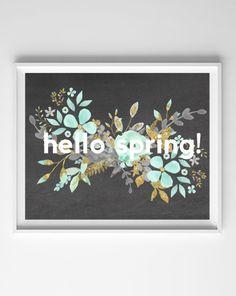 Spring Chalkboard Art Printables
