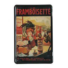 Cuadro de metal impreso vintage LA FRAMBOISETTE 20x30-