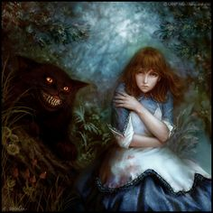 Alice and The Cheshire Cat by LAMP-ag in Alice in Wonderland Fan Art