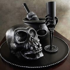 This Halloween centerpiece idea is perfect for a gothic look.