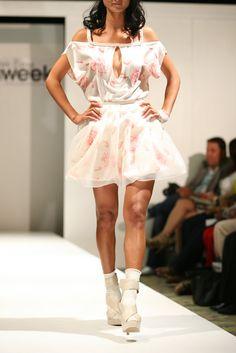 Two Piece Rose Dress by Sandra Hagen