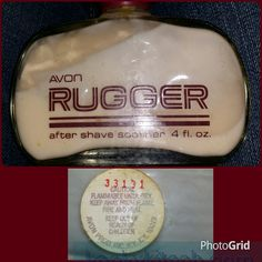 Avon RUGGER AFTER SHAVE SOOTHER 4 ozs. #kookykitsch