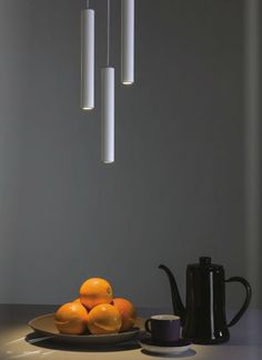 Beautiful Ceiling Light - the 3W Ariana LED Pendant in White with Integral LED Driver, 3W 116lm 2700K LED Tube Pendant by @astrolighting - now at www.sparksdirect.co.uk