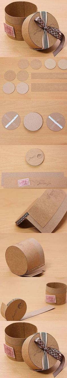 DIY Cute Cardboard Gift Box - #art, #diy, craft