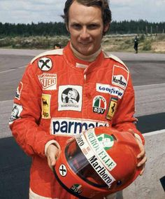 Niki Lauda is a f**king  Man.  Balls.