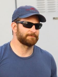 Beefy and Bearded Bradley Cooper Leaves a Store in Hollywood