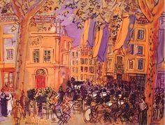 L'orchestre en Arles by Raoul Dufy