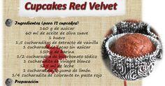 Receta de cupcakes red velvet y ejemplos de ejecución.