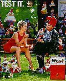 Ads for West and Winfield Cigarettes from Germany incorporating subliminal elements.