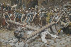 Симон Киринеянин помогает Иисусу нести крест  Жак-Жозеф Тиссо (1836-1902