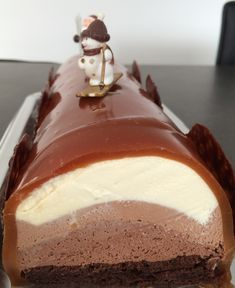 bûche aux 3 chocolats