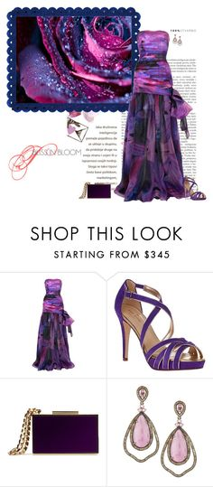 """Like A Rose"" by seafreak83 ❤ liked on Polyvore featuring Matthew Williamson, Kate Spade, Lanvin, Bavna, purple, katespade and gown"