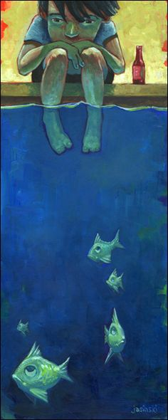 Fish and Me by Aaron Jasinski http://www.eyesonwalls.com/products/fish-and-me#