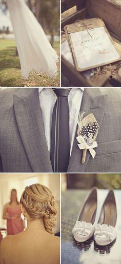 LOVE tie.  sample boutonniere
