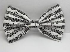 music note hair bow...too cute!