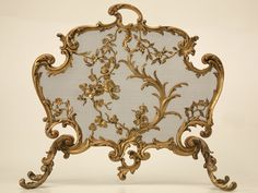 Bronze Fireplace Screen