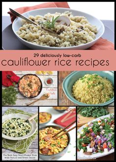 Getting a little tired of plain cauliflower rice? Try these delicious and creative variations. All recipes are low carb, keto, and many are paleo friendly too! If you're going to go on a healthy low carb diet, you'd better make friends with cauliflower pretty darn quick. It's going to be one of the things that saves your sanity. Because embarking on a low carb diet means giving up many filling comfort foods like pasta, rice, and potatoes and that can be really tough for some folks...