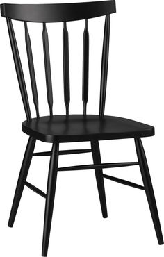 "The ever-popular Windsor chair sits up and gets noticed in deep raven black.  Beechwood frame brings the design up to date with slender spindle back, angled legs and subtle saddle seat.  Mix with other Willa Chair color options for a fresh take on table seating or pull up solo to desk or vanity. BeechwoodLacquer finishMortise and tenon joineryFor indoor use only18""H seatMade in China."