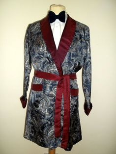 Vintage Mens St Michael 1950s/60s Tricel Smoking Jacket Dressing Gown Robe 38 £57.00
