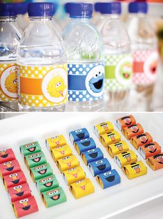 Baby's One Month Sesame Street Party Dessert Table // Hostess with the Mostess®