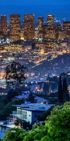 The Hollywood Hills of Los Angeles, Cali