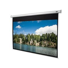 celexon Beamer-Leinwand Motor Economy 300 x 169 cm   Format 16:9   Motor-Leinwand für alle Projektionssysteme   Gainfaktor 1,2 für Heimkino & Präsentationen   Zur Wand- und Deckenmontage geeignet