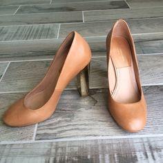 Zara chunky heel pumps