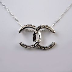 Double C Horseshoe Necklace in Sterling Silver