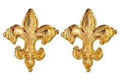 Fleur-de-Lis Studs. Really like these, but think they may be too big