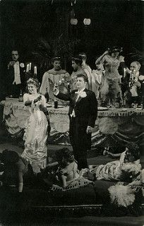 Irene Salemka: 1962 - Soprano Irene Salemka as Violetta in act 1 of Verdi's opera La Traviata with the Frankfurt State Opera.  She was born on 3rd Oct 1931 in Steinbach, Manitoba, Canada.  Her debut was at the Montreal Festival in 1952 as Juliette in Gounod's opera Roméo et Juliette.