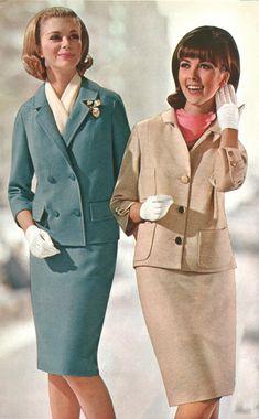Sixties Fashion, Retro Fashion, Vintage Fashion, Womens Fashion, Fashion Fashion, 1960s Outfits, Vintage Outfits, Valentino, Classy Suits
