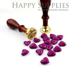 Hey, I found this really awesome Etsy listing at https://www.etsy.com/listing/161164087/10-20pcs-violet-heart-shaped-sealing-wax