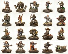A Widely Varied Set of 20 Dwarven Miniatures. 100% Lead Free Pewter. A set  of hero miniatures for dungeon-crawling, RPGs, and 28mm tabletop wargames.      * 100% Lead Free Pewter     * Twenty 28mm Scale Dwarf Miniature     * Base tab on the miniature may be smaller than the slot in the