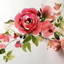 Resultado de imagen para easy watercolor flowers