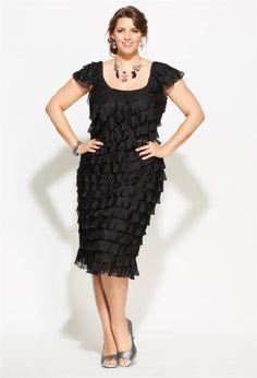 Avenue Plus Size Allover Scoop-Neck Ruffle Dress Avenue. $39.00