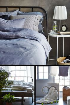 Home furnishing ideas and inspiration from IKEA Australia Ikea Fabric, Apartment Goals, Own Home, Home Furnishings, Bedroom Furniture, Apartments, Comforters, Bedroom Ideas, Sleep