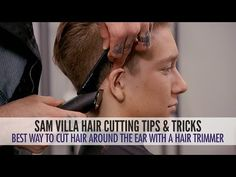 Check out this video for tips for cutting hair around the ears.