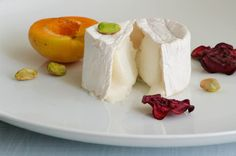 A Celebration of Goat Cheese with Apricot, Beetroot Crisps & Pistachios