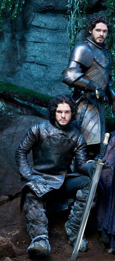 Kit Harington as Jon Snow and Richard Madden as Robb Stark