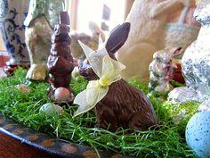 candy bunny display