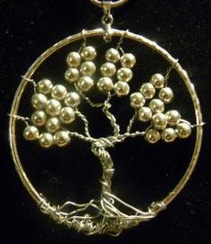 Silver Tree of Life Wire Art Pendant by PrettyPittyJewelry on Etsy, $15.00
