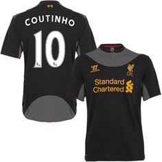 Liverpool #10 Philippe Coutinho Away Soccer Club Jersey @Emillia Kelly