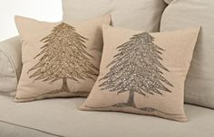 Sapin De Noël Beaded Christmas Tree Design Throw Pillows (Silver) -- Learn more by visiting the image link. Christmas Tree Design, Christmas Ideas, Christmas Decorations, Silver Pillows, Christmas Cushions, Pillow Fight, Christmas Sewing, Embroidery Applique, Girl Rooms