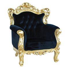 Belle de Fleur Chair Black now featured on Fab.