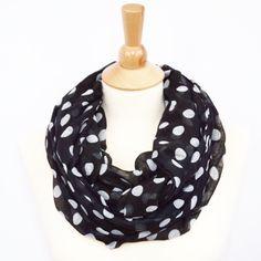 Polka Dot Infinity Scarf Dot Print Eternity Scarf Animal Classic Scarf by knotanotherscarf on Etsy https://www.etsy.com/listing/222892630/polka-dot-infinity-scarf-dot-print