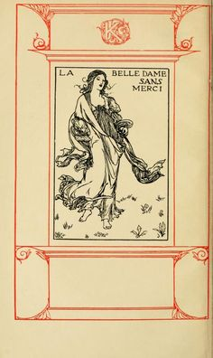 La Belle Dame Sans Merci, from Poems by John Keats illustrated by Robert Anning Bell.