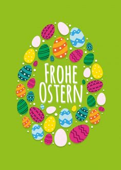 Frohe Ostern mit buntem Osterei Happy Easter with colorful Easter egg Happy Easter Send real postcar Easter Verses, Easter Bunny Pictures, Happy Birthday Blue, Blue Icing, Easter Art, Coloring Easter Eggs, Easter Colors, Verses For Cards, Messages