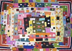 The Siddis who live in Karnataka, India are of African descent. Siddis women craft dynamic quilts, which they make for their children and grandchildren. These utilitarian efforts have a visual strength one sees in the most sophisticated works of art. Bold and complex, the Siddis quilts present a geometry that transcends the decorative. Reminiscent of Gee's Bend quilts from rural Alabama, the Siddis quilts show that the extraordinary can be found in the simplest of domestic endeavors.